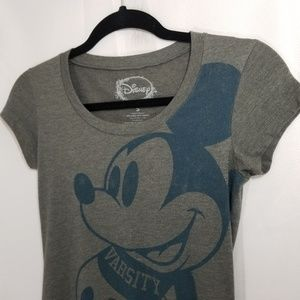 Mickey Mouse Disney Graphic Tee T-Shirt Grey